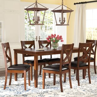 Nadine 7 Piece Breakfast Nook Dining Set by DarHome Co Salet