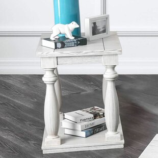 Siri Antique White End Table by Loon Peak
