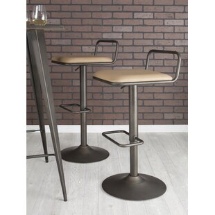 Moa Adjustable Height Swivel Bar Stool (Set of 2)