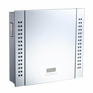 "25 x 23"" Surface Mount Medicine Cabinet with LED Lighting HomCom"