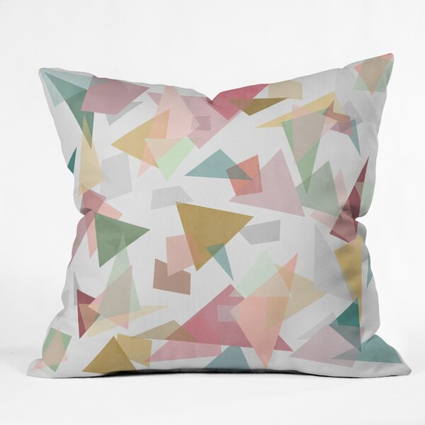 East Urban Home Mareike Boehmer Triangle Confetti 1 Indoor Outdoor Throw Pillow Wayfair