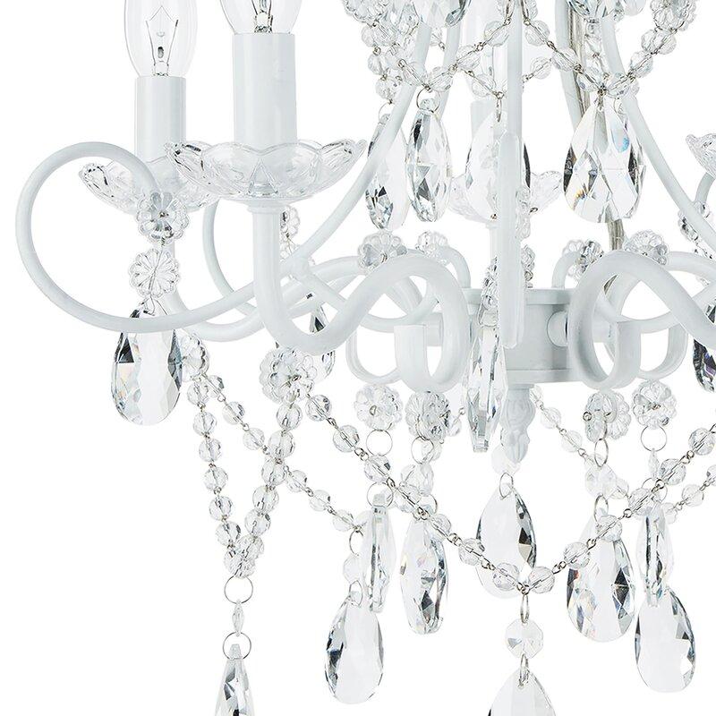 House of hampton sherwood 5 light crystal chandelier reviews wayfair sherwood 5 light crystal chandelier aloadofball Gallery