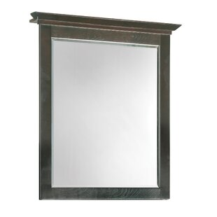 Andover Mills Steubenville Rectangle Brown Wood Wall Mirror