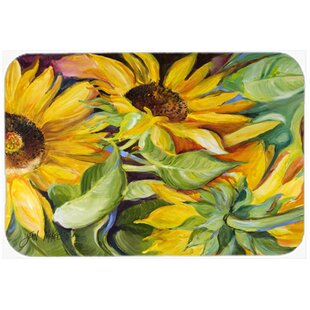 Sunflowers Glass Cutting Board by Caroline's Treasures Spacial Price