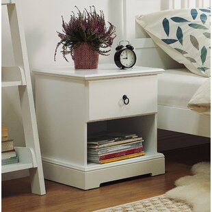 Nicolette 1 Drawer Nightstand by Rosalind Wheeler