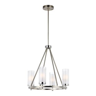 Mikolas 4-Light Shaded Chandelier by Bray..