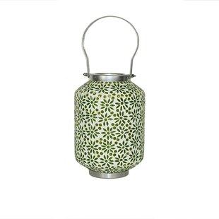 Bargain Mosaic Ceramic/Metal Lantern By Bungalow Rose