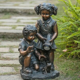 August Grove Fellman Boy and Girl Statue