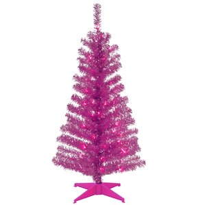 tinsel trees 4 pink artificial christmas tree with plastic stand - Pink Christmas Tree