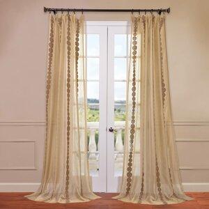 Cleopatra Geometric Sheer Rod Pocket Single Curtain Panel