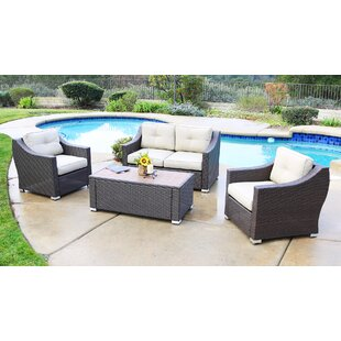 Leavell 4 Piece Sofa Set with Cushion