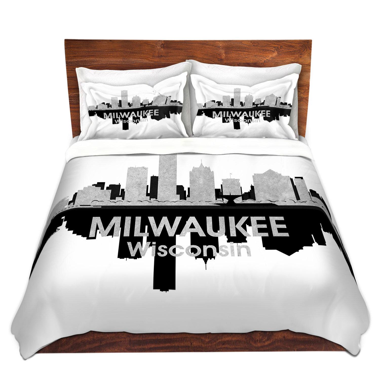 East Urban Home City Iv Milwaukee Wisconsin Duvet Cover Set Wayfair