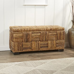 Frida Woven Storage Bench by Bay Isle Home