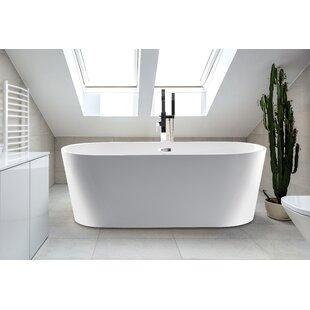 Scarlett 59 inch  x 30 inch  Freestanding Soaking Bathtub