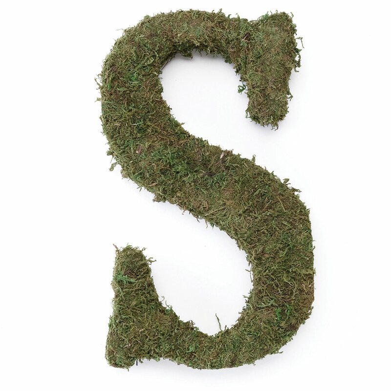 Cuffee Large Moss Monogram Wreath
