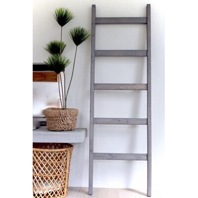 Foundry Select 6 ft Blanket Ladder Finish: Weathered Gray