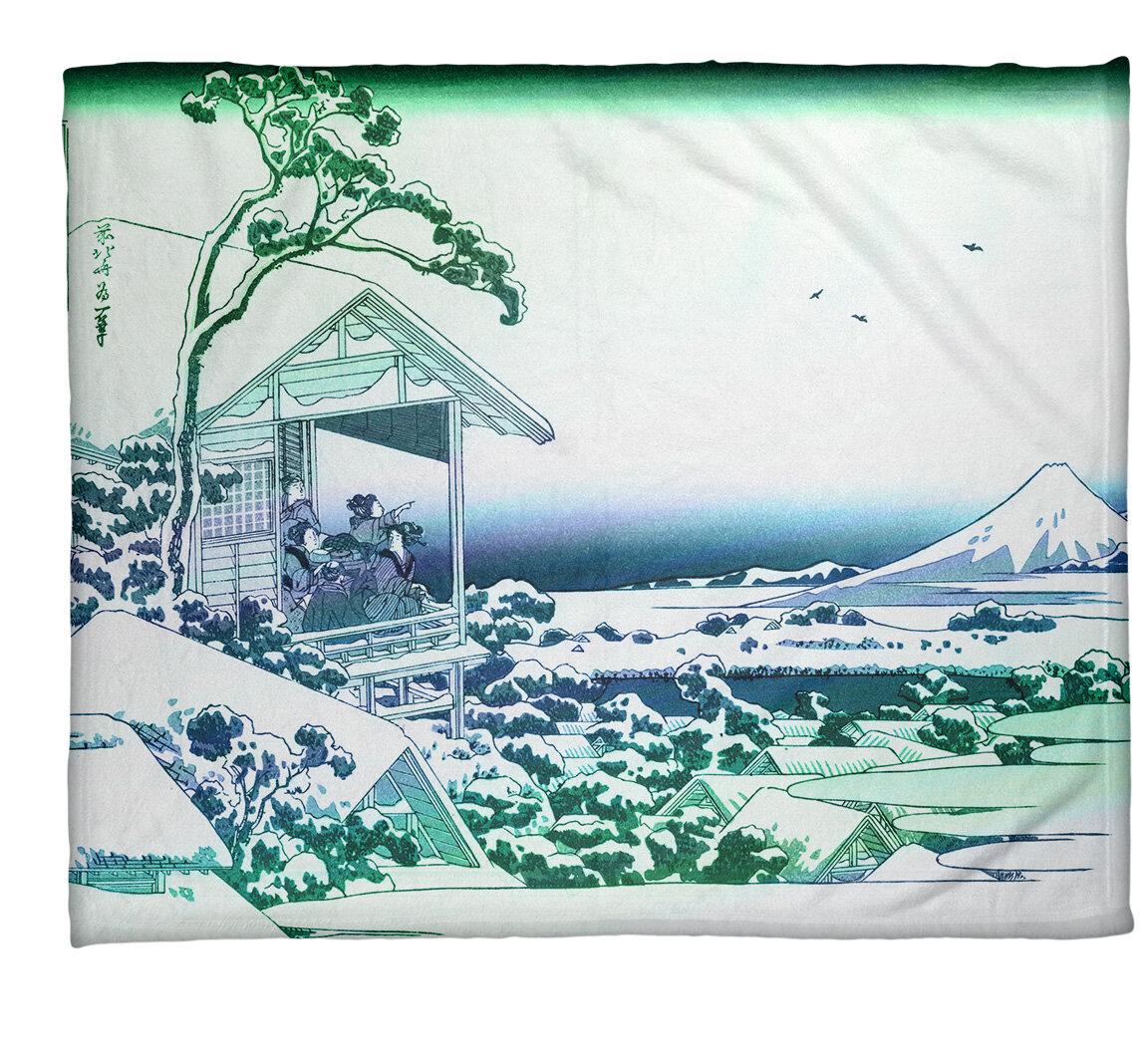 East Urban Home Katsushika Hokusai Tea House At Koishikawa Fleece Throw Wayfair