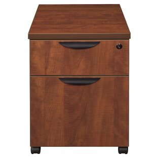 Latitude Run Linh Box File 2-Drawer Mobile Vertical Filing Cabinet