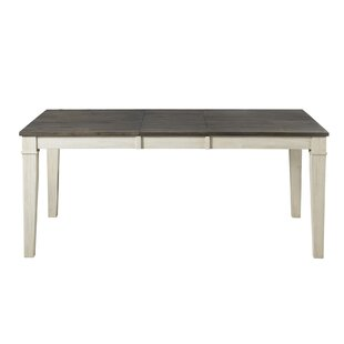 Scales Extendable Solid Wood Dining Table Gracie Oaks