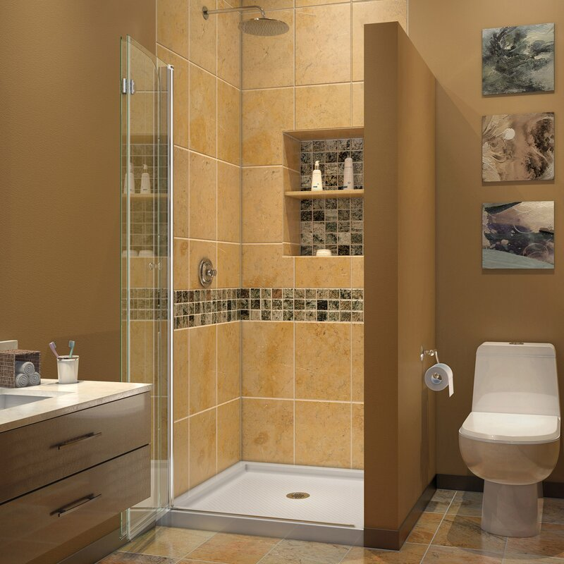 zoom mirror slider door lakes shower in semi frameless line
