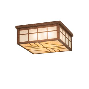 Loon Peak Younker Square 4-Light Flush Mount