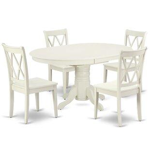 Kouba 5 Piece Extendable Solid Wood Dining Set
