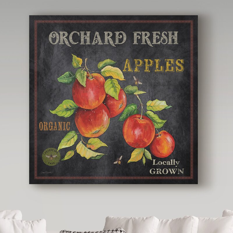 'Orchard Fresh Apples' Vintage Advertisement on Wrapped Canvas