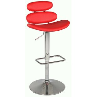 Pneumatic Gas Adjustable Height Swivel Bar Stool by Chintaly Imports 2019 Online