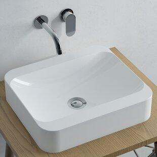 Where buy  Bellini Polymarble Rectangular Vessel Bathroom Sink By Calma