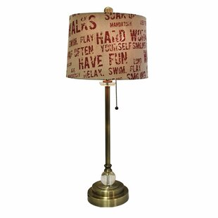 Milstein Relaxing Phrase Print 28 Table Lamp (Set of 2)