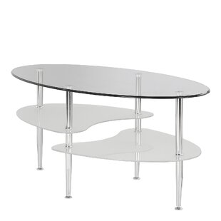 Jean Glass Oval Coffee Table By Wade Logan