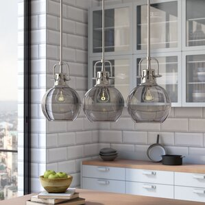 High Quality Burner 3 Light Kitchen Island Pendant