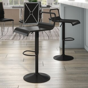 Clark Adjustable Height Swivel Bar Stool (Set of 2)
