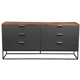 17 Stories Agantha 6 Drawer Double Dresser