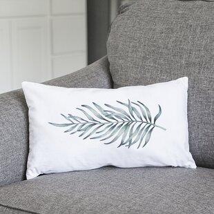 Joellen Palm Leaf Lumbar Pillow