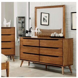 Corrigan Studio Ector 6 Drawer Double Dresser