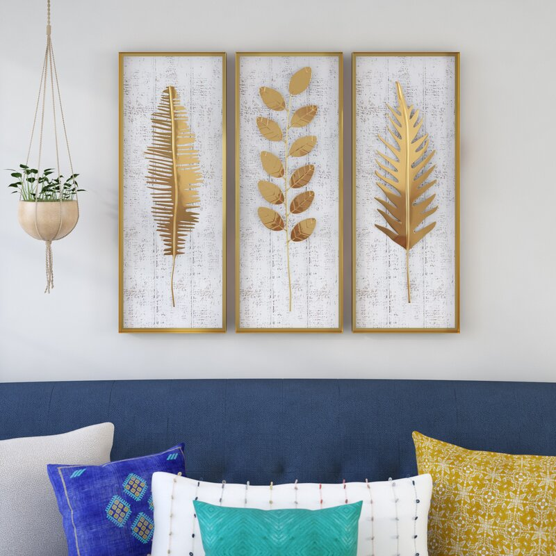 3 Piece Living Room Wall Art Easy Craft Ideas