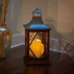 Portland Wood Lantern by Smart Living