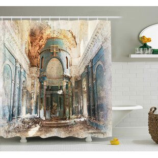 Ilana Old Ancient Vintage Print Single Shower Curtain