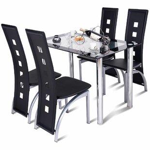 Orren Ellis Ainsley Home Breakfast Kitchen 5 Piece Dining Set