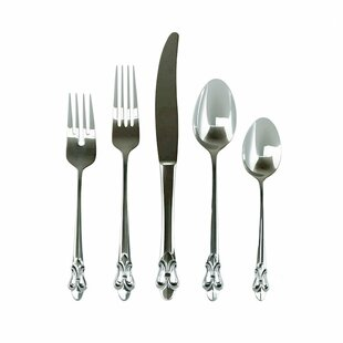 Fleur de Lis 20 Piece Flatware Set, Service for 4