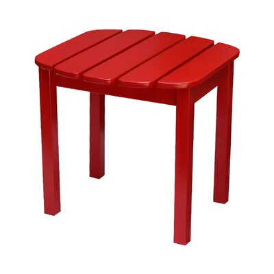 Edgell Solid Wood Side Table Finish: Red by Andover Mills