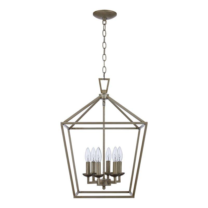 Carmen 6 - Light Lantern Geometric Chandelier