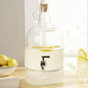 Earl Glass Jug Beverage Dispenser