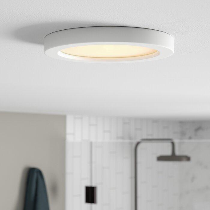 quality design 88446 5e82d Elzy Round 1-Light LED Flush Mount