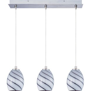 Latitude Run Mcwilliams Swirl 3-Light Pendant