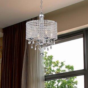 House of Hampton Oldman 4-Light Crystal Chandelier
