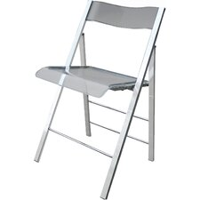lucite folding side chair set of 2