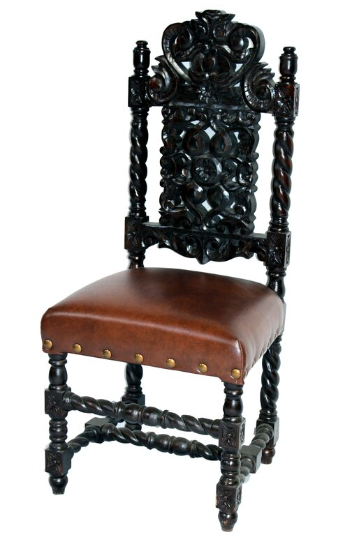Home and Garden Direct King Arthur Solid Wood Dining Chair (Set of 2)