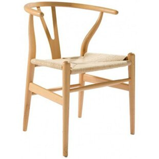 Brinda Solid Wood Armchair by Bungalow Rose